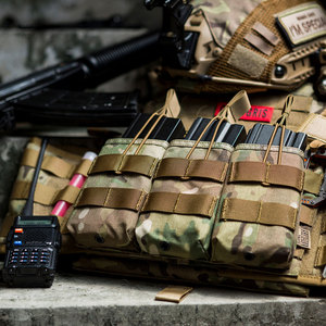 OneTigris Tactical MOLLE Triple Open-Top Magazine Pouch FAST AK AR M4 FAMAS Mag Pouch Airsoft Military Paintball Equipment(China)