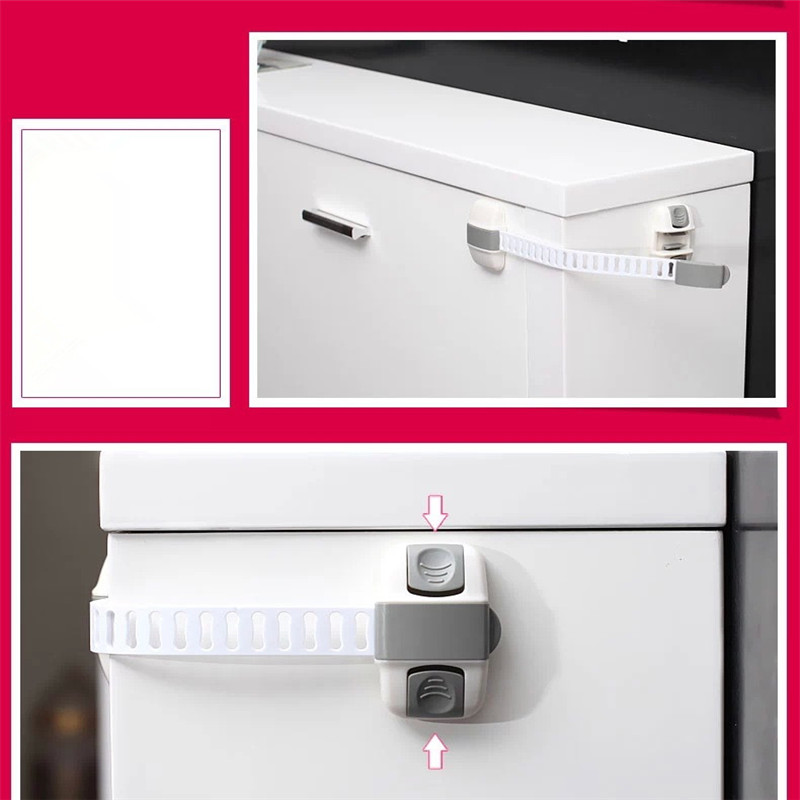 New Fashion Safety Lock Protection Drawer Cabinet Refrigerator Lock Child Safety Multifunctional Adjustable Drawer Lock