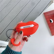 Silicone Case Sexy Red Lips Shape for Airpods Pro TWS Bluetooth Earphone 95AF