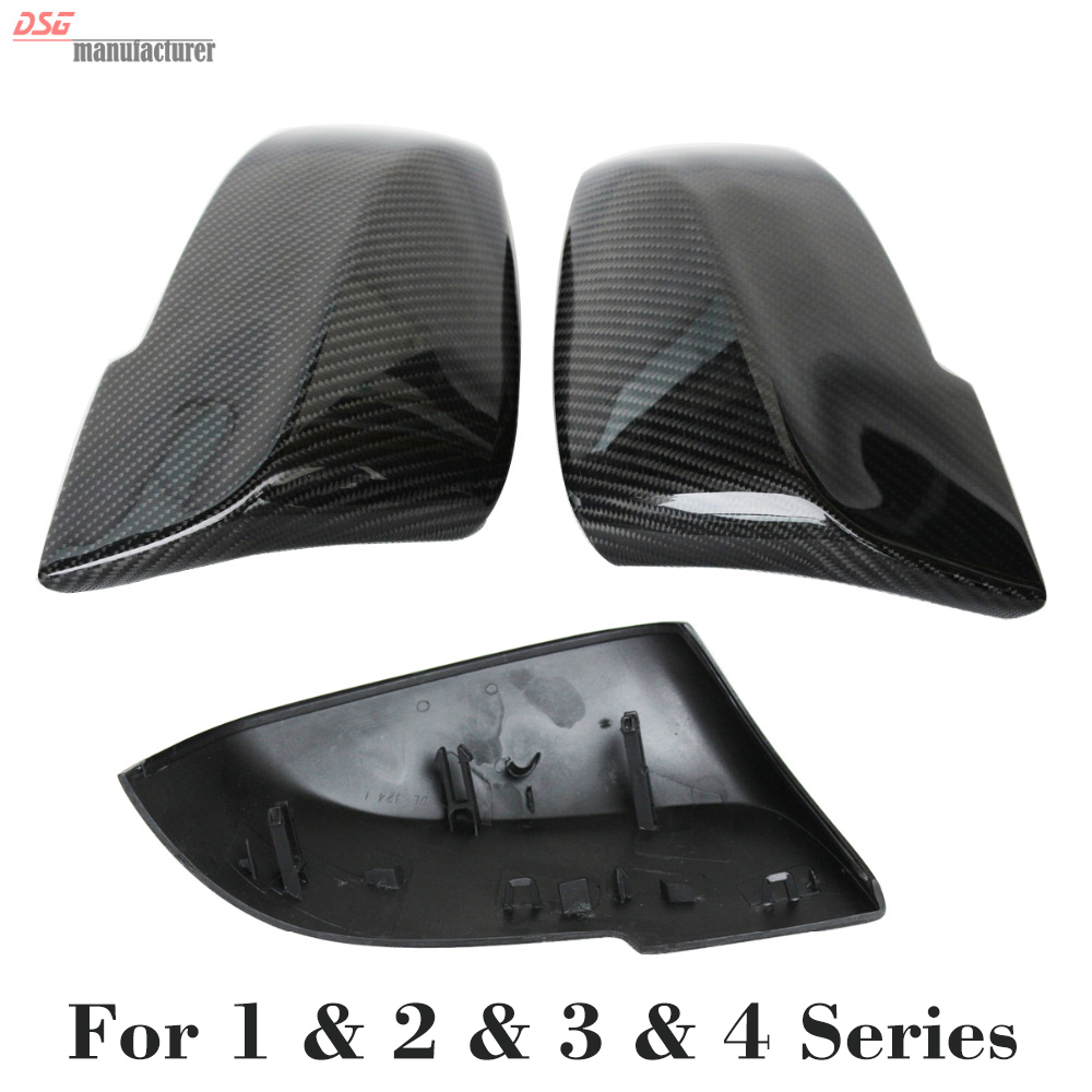 Real Carbon Fiber Side Mirror Cover Trim Replace For BMW 1 Series F20 2012~2015