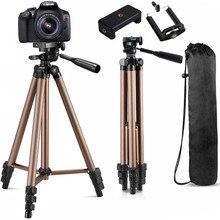 Kamera Tripod için cep telefonu telefon Tripod için kamera tutucu Canon Nikon Sony DSLR dijital DV kamera WT3130 alüminyum