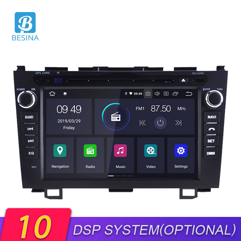 Besina Android 10.0 Car DVD Player For <font><b>HONDA</b></font> <font><b>CRV</b></font> 2006-2008 2009 2010 <font><b>2011</b></font> <font><b>Multimedia</b></font> GPS Navigation Stereo 2 Din Car Radio WIFI image