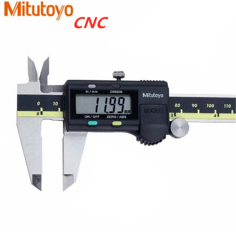 """Mitutoyo CNC Caliper Absolute 500 196 30 Digital Calipers Stainless Steel Inch/Metric 8"""" 0 200mm Range  0.001"""" Accuracy 0.0005""""