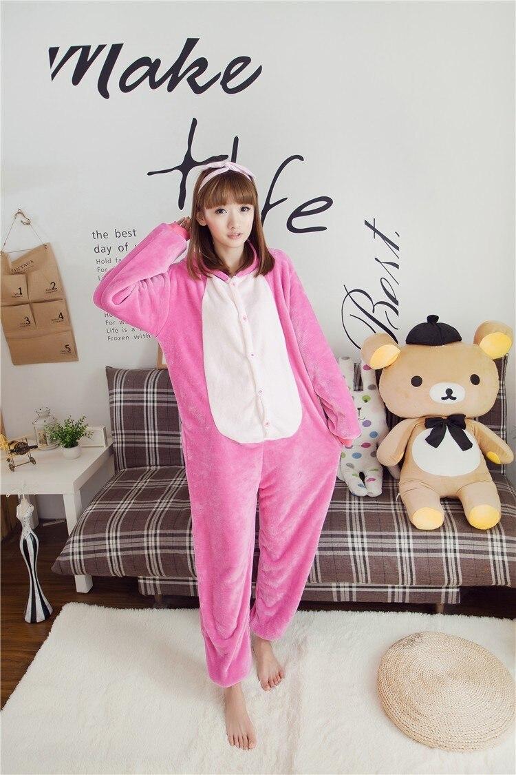 Kigurumi Unisex Dewasa Blue Pink Stitch Piyama Haiwan Onesie One - Kostum karnival - Foto 2