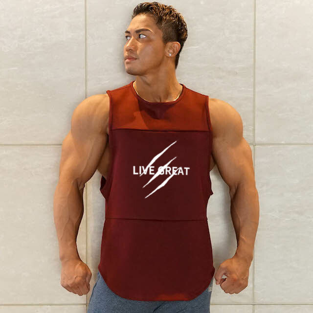 Quick Dry Men s Running Sleeveless Shirts Sports Bodybuilding Loose Tanks Tops Super Breathable Jogging Vest