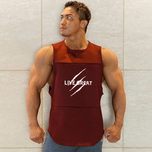 Quick Dry Men's Running Sleeveless Shirts Sports Bodybuilding Loose Tanks Tops Super Breathable Jogging Vest Cycling