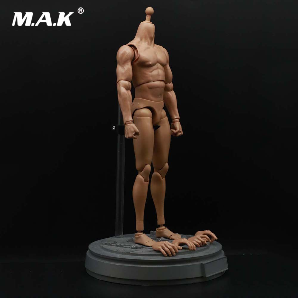 Collectible In Stock 1:6 Scale Muscle Male Body Figure Nude Soldier Model Toys for 12 HT Head Accessory image