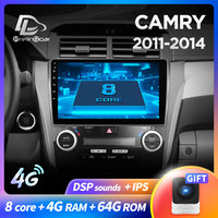 prelingcar For Toyota Camry 55 2014 2017 years Car Radio stereo Multimedia Video Player Navigation GPS Android 9.0 DSP dashboard