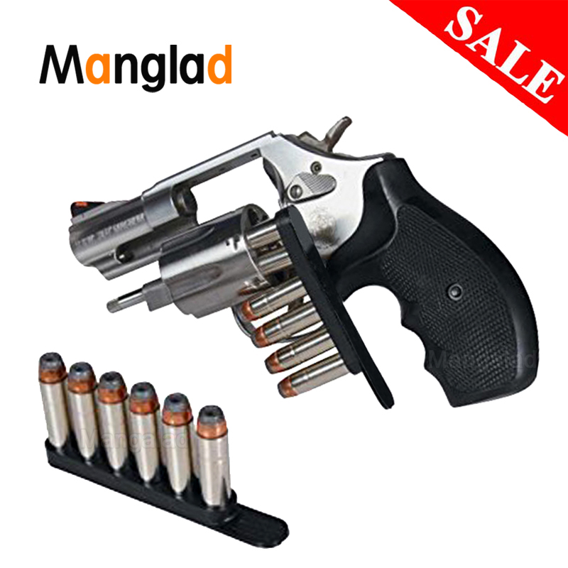 1pcs 1014010 580 Speed Strip Fits .38 Or .357 Caliber Hold 6 Rounds Bullet For Revolver In Waist Bag
