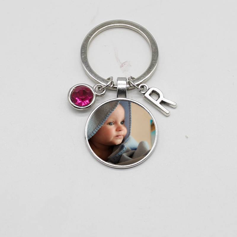 Personality Photo Pendant Letter Keychain, Your Baby Boy, Mom, Dad, Grandma, Cute Family Parent-child Photo Is A DIY Gift Jewelr