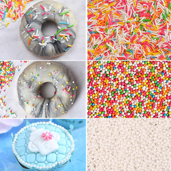 10G 2MM Food Coloring Edible Cake Sprinkles 0.35zo Sugar Pearl Cake Decoration Tool Gold Silver Christmas White Candy Pearl dorothea benton frank christmas pearl