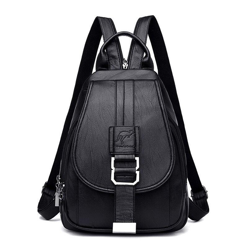 Women's Vintage Leather Backpack 7