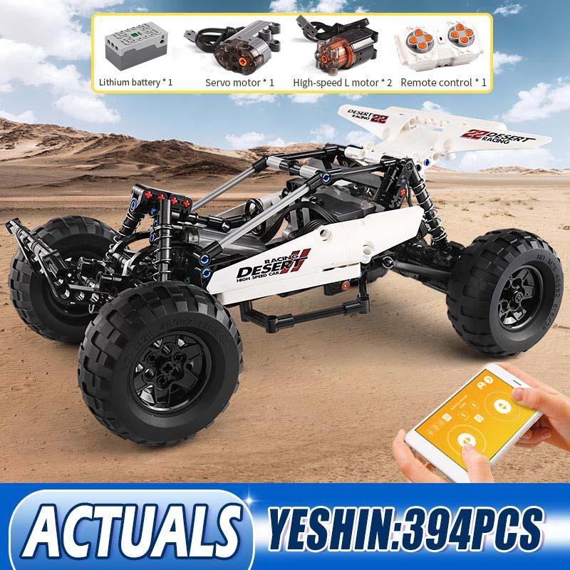 Moule roi 18001 MOC blocs de construction Robot désert course voiture jouet Ackermann direction cylindre piston liaison enfants cadeau