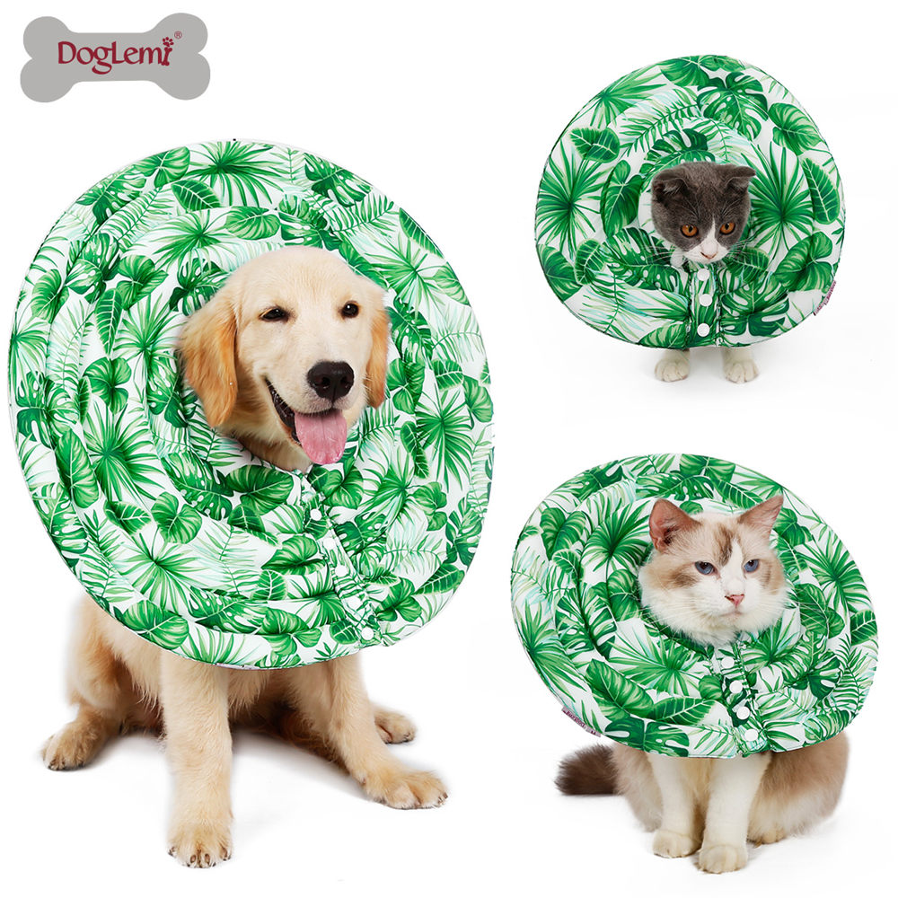 Nylon Protective Medical Cone E Collar for Small Large Dogs Control Collar Inflatable Cat Dog Elizabethan Collar Pet Supplies in Collars from Home Garden