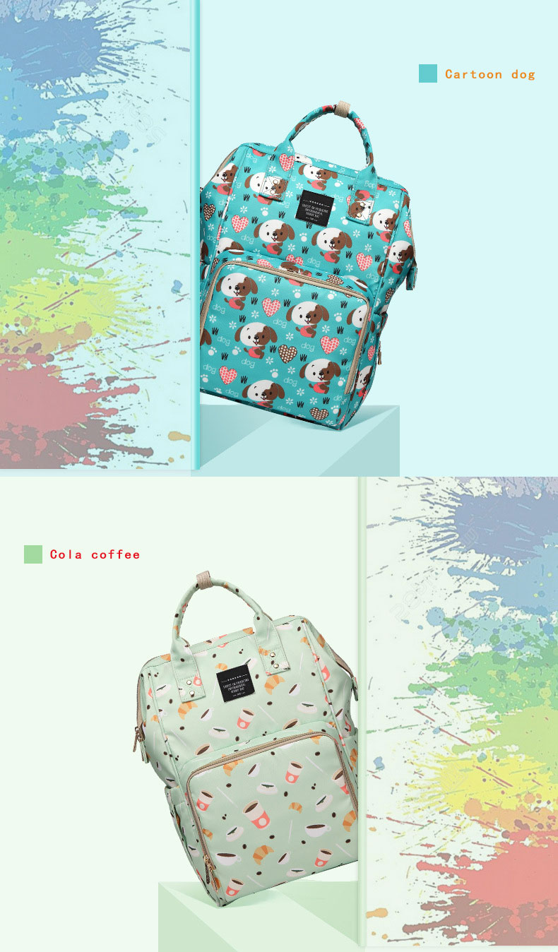 Hfbcc054b967743a993e66d2d24813ca3z Fashion Mummy Maternity Nappy Bag Waterproof Diaper Bag With USB Stroller Travel Backpack Multi-pocket Nursing Bag for Baby Care
