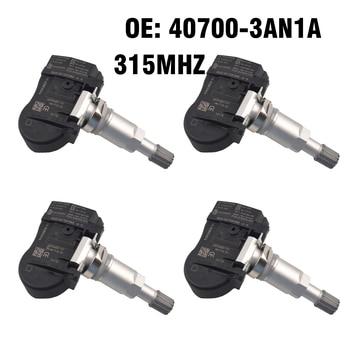 4PCS Car Tire Pressure Monitor Sensor TPMS 40700-3AN1A for Nissan Juke Cube Versa Leaf Sentra