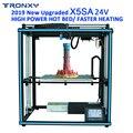2019 yeni Tronxy DIY monte X5SA alüminyum ekstrüzyon 3D yazıcı kiti baskı dokunmatik ekran ve otomatik tesviye