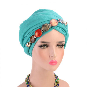 Muslim Scarves Hijab Fashion Women Multi-style Jewelry Necklace Beading Scarf Hijab Hat  Voile Lady Inner Hijabs Arab head scarf