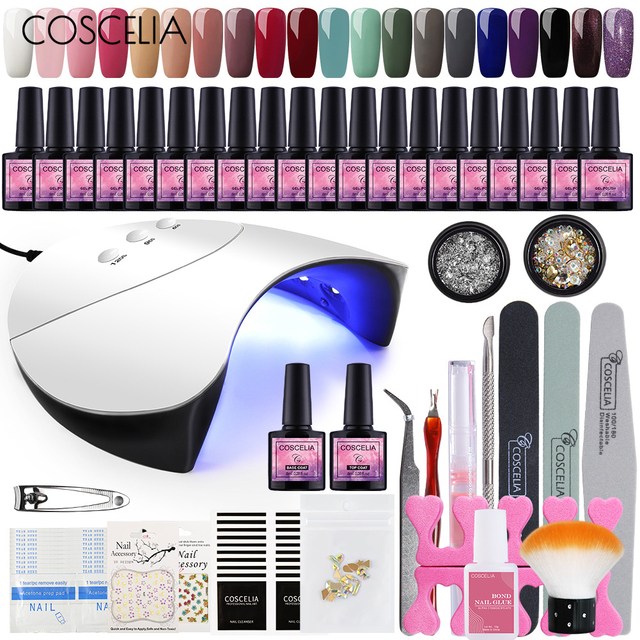 COSCELIA US Warehouse Gel Nail Polish Manicure Tool All For Manicure Set Nail Decorations For Nail Art Brushes Tools For Nails 1