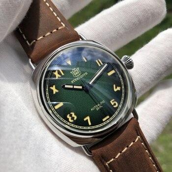 цена STEELDIVE 1936 Mechanical Watch Men Sapphire NH35A Diver Watch 200m Mens Watches Automatic Mechanical Waterproof C3 Luminous онлайн в 2017 году
