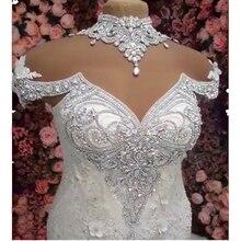 ชุดแต่งงาน 2020 Mermaid Full ประดับด้วยลูกปัดหรูหราชุดเจ้าสาว