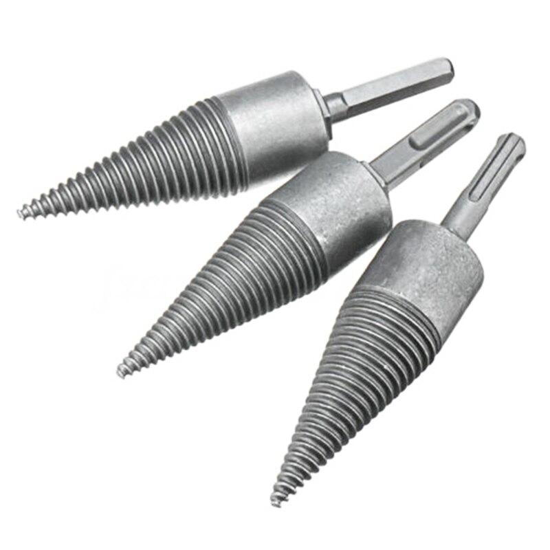 4Pcs/Set Log Wood Splitting Split Electric Hammer Drill Splitter Cone Firewood