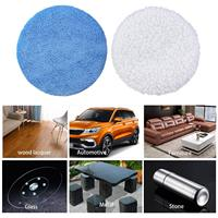 5 To 6 Inches Microfiber Polishing Pad for Car Polisher Bonnet 18 Packs|Car Covers|   -