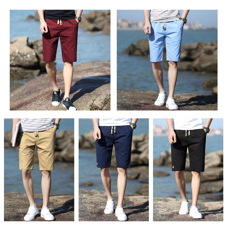 2019 Summer New Style Shorts Korean-style Slim Fit Men Sports Pure Cotton Casual Shorts Youth Beach Men's Shorts
