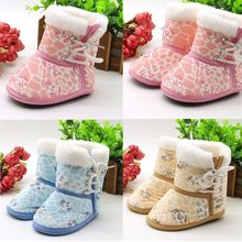 Toddler Soft bottom Shoes Infant Newborn Baby Print Boots Soft Sole Leisure Boots Prewalker Warm snow boots 2019 Hot Sale(China)