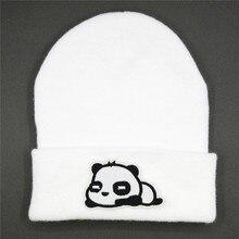 Beanie Hat Embroidery Panda-Animal Skullies-Cap Winter Warm Thicken Cotton Women LDSLYJR