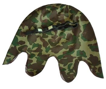 WW2 US Army Marine Corps Camo HBT odwracalny pokrowiec na kask z paskiem na oczy żołnierz wojny światowej wojskowe wojny wojenne 5605101 tanie i dobre opinie CINESSD CN (pochodzenie) Broń Armor
