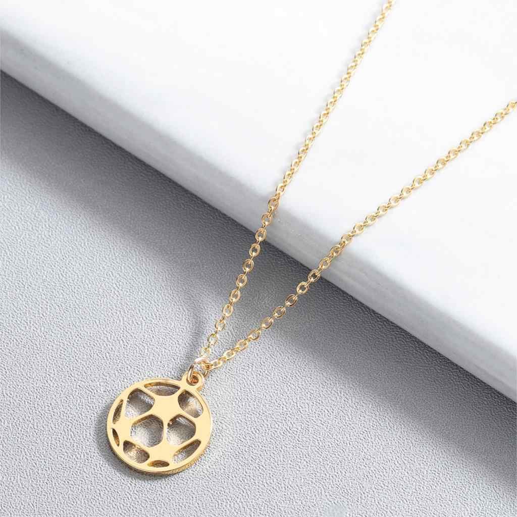 Collar de moda colgante de voleibol baloncesto fútbol 3 colores oro y Rosa oro y plata collar joyería cadena