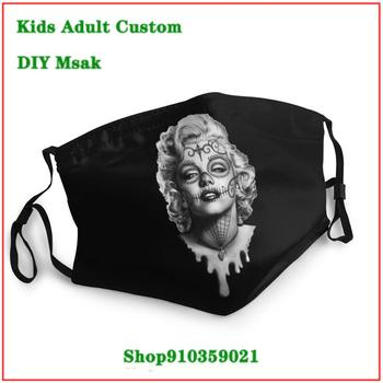 Hot sale replaceable filter mask Sugar Skull Marilyn Monroe washable reusable face mask adult mascarilla reutilizable