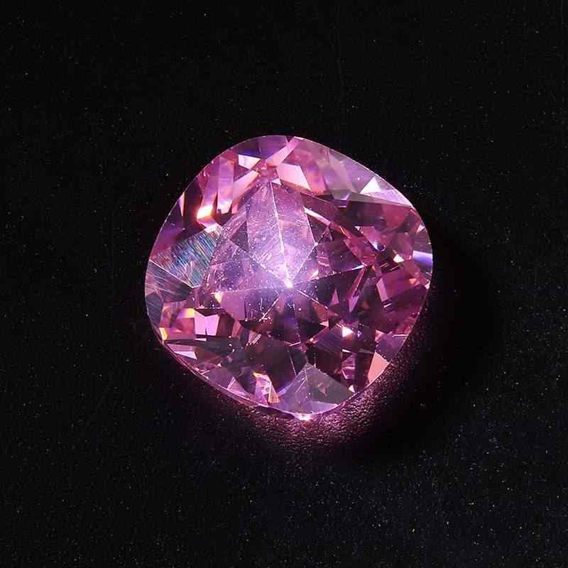 10 pçs/set 10.68cts 12x12mm Não Aquecida Pink Sapphire Pear Cut Brilhante Jóias Anéis de Pedras Preciosas Soltas para DIY Colares pulseiras
