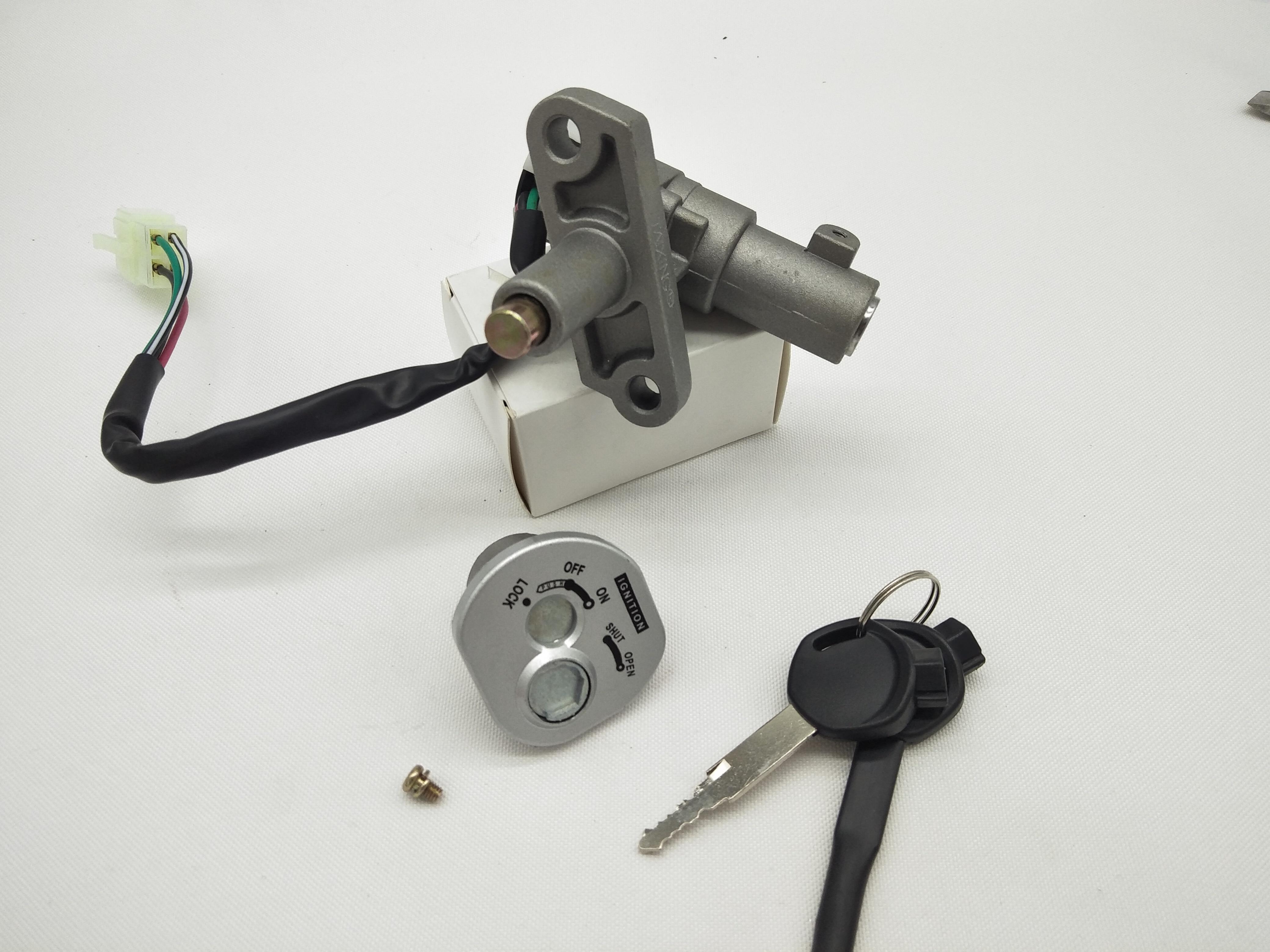 A517 Ignition Switch Lock Key Set For Scooter Keeway Hurricane 50 Hurricane 90 KW50QT-2 QJ50QT-2 For YAMAHA BWS125