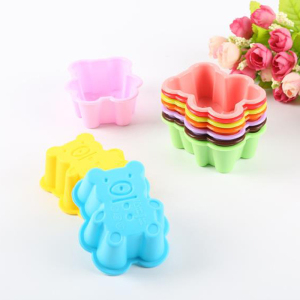 4Pcs Silicone Cute Bear Cookie