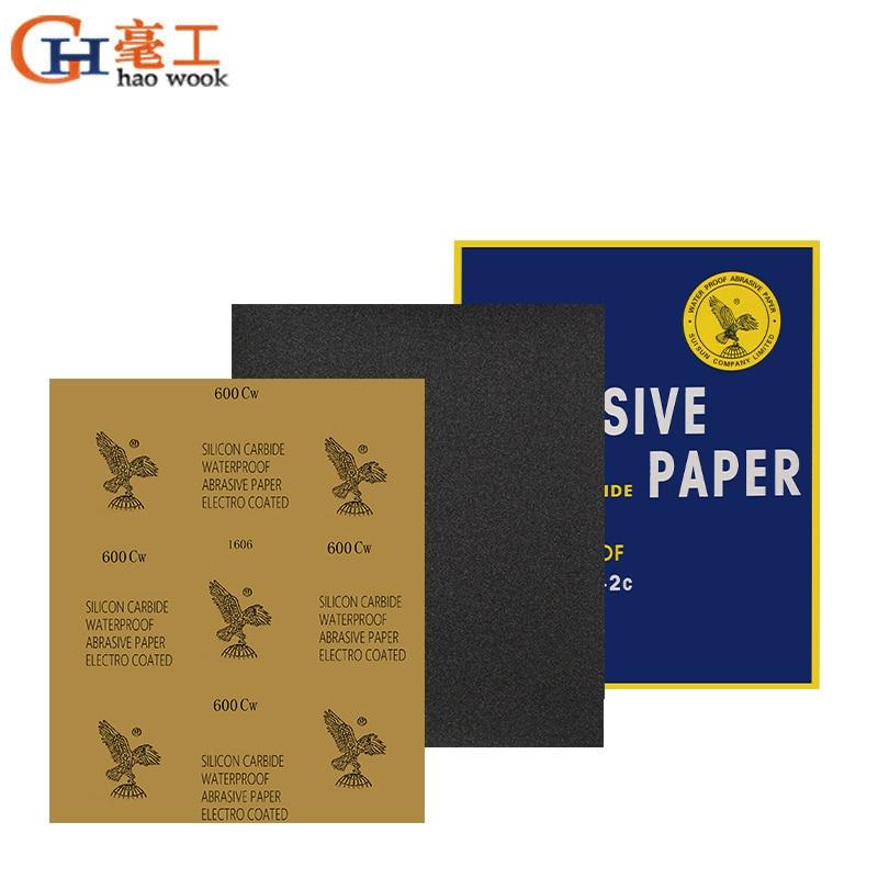 Sanding Paper Abrasive Waterproof Paper Abrasif Papier De Verre Carta Vetrata Grit P80-2000 Wet Dry Sandpaper Sheet Polishing