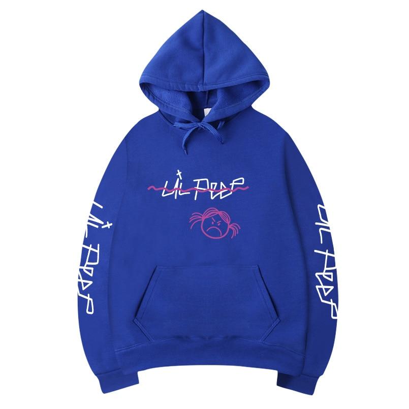 Lil Peep Print Hoodies Sweatshirts Skateboard Men Women Print Pullover Hip Hop Streetwear Casual Black Gray Hoody 2020 Men Tops