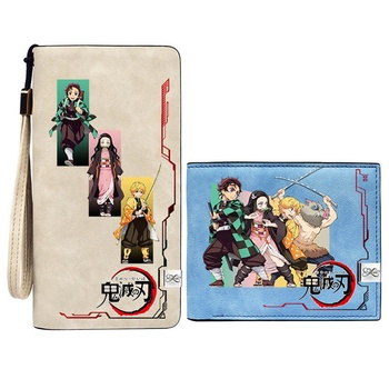 Anime Demon Slayer: Kimetsu no Yaiba Kamado Tanjirou Cosplay Wallet Short Long Purse Card Holder Billfold Zero Gift - sale item Wallets & Holders
