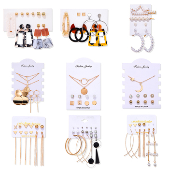 Women's Earrings Set Tassel Pearl Earrings For Women Bohemian Fashion Jewelry 2020 Geometric kolczyki Hoop Earings 4