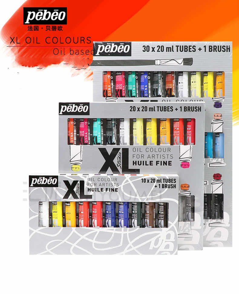 10/12/20/30color Tubular 20ml Oil Painting set Pigment Beginner Hand Paint Dyestuff Coating Art Supplies Articles brush