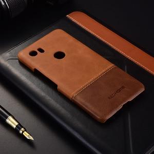 Image 2 - Luxe Merk Lederen Case Voor Google Pixel 2 Xl 4 Telefoon Back Cover Cases En Covers Shell Bumper