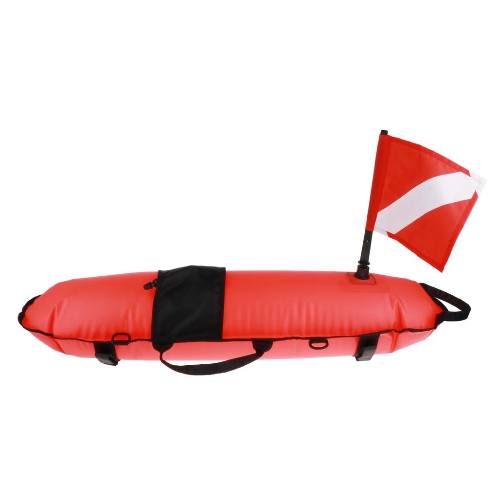 Inflatable Marker Diving Flag Buoy Signal Float Scuba Snorkeling