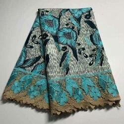 Piękne Ankara hafty wosk tkaniny z kamieniami nigeryjski szal wysokiej jakości koronki mecz wosk tkaniny dla kobiet