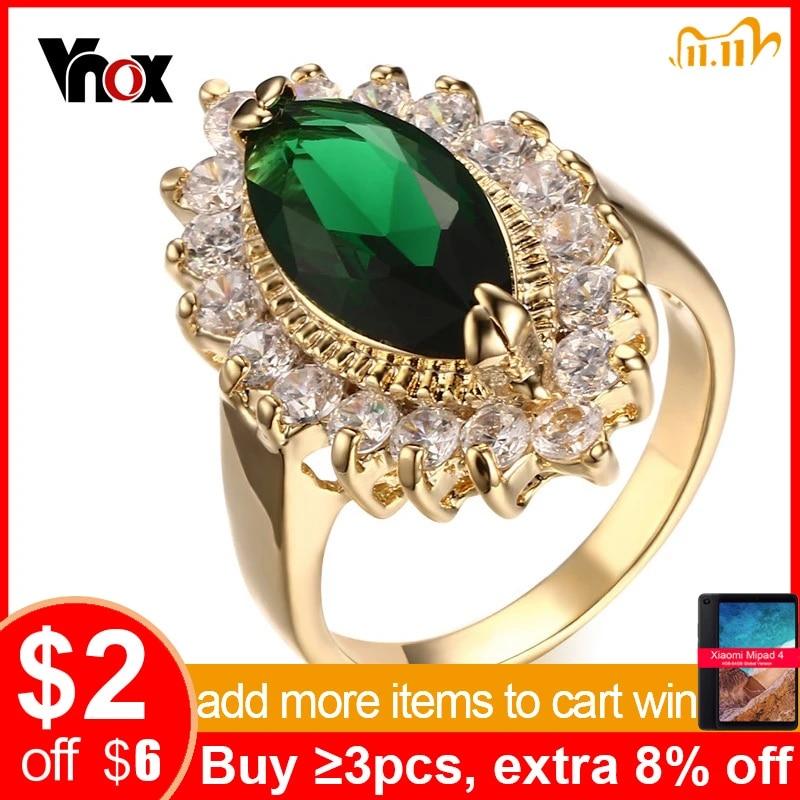Vnox Women's Wedding & Engagement Rings Big Stone Rings for Female Bride  Jewelry free Gift Box engagement ring big stone ringstone ring - AliExpress