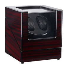 Acabamento caixa de relógio shaker assista winder caso titular display automático mecânico marrom enrolamento jóias acessórios