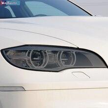2 Pcs Car Headlight Protective Film Front Light Transparent Smoked Black TPU Sticker For BMW X6 M E71 2008-2014 Accessores