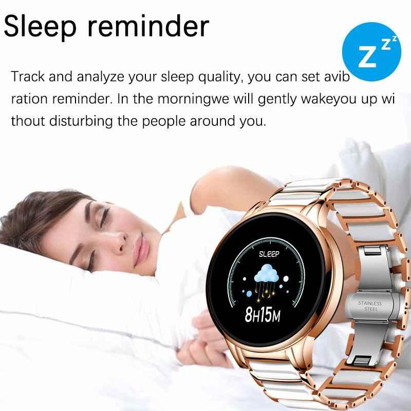 Luik Luxe Smart Watch Vrouwen Waterdichte Sport Fitness Tracker Voor Android Ios Reloj Inteligente Keramische Band Smart Watch Mannen
