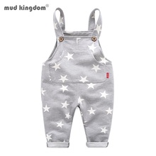 Mudkingdom Little Boy Girl Overalls Pants Cotton Stars Children Bib Overall Trousers Kids Clothes Spring Autumn Clothing