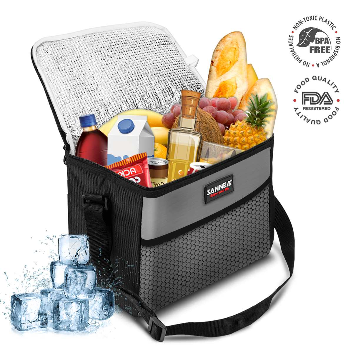 Portable Lunch Bags 10L Waterproof Necessary Picnic Pouch Unisex Thermal Dinner Food Accessories For Women Kids Men Shoulder Box